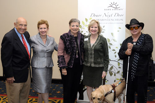 Dr. Harold and Gail Cohen, Miami Lighthouse Honorary Board Director Gloria Martin and CEO Virginia Jacko and Herb Klein