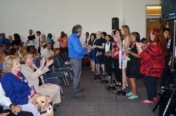 Miami Lighthouse Better Chance Music Production Program™ students sing God Bless the USA.