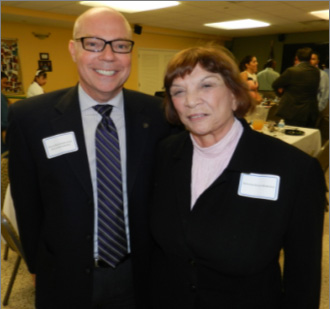 State Representative David Richardson with Visionary of the Year Senator Gwen Margolis.