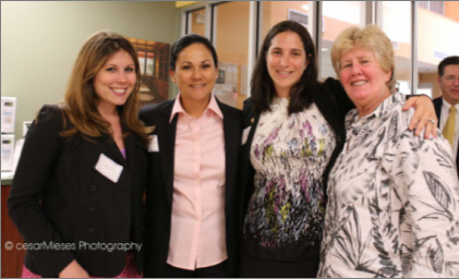 Ali Soule, Maria Byrd, Kadie Black and Commissioner Sally Heyman.