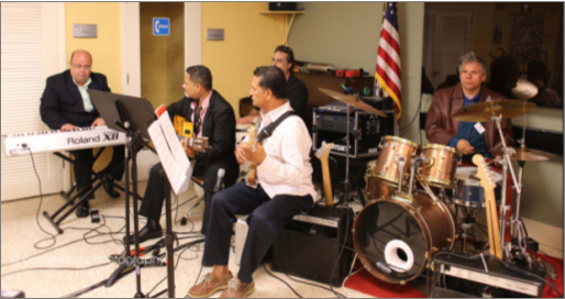 Miami Lighthouse Better Chance Music Production Program� instructors provided background music for guests to enjoy.