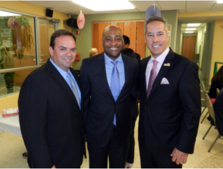 State Representative Eddy Gonzalez, Senator Oscar Braynon, II, Mayor of North Miami Beach George Vallejo.