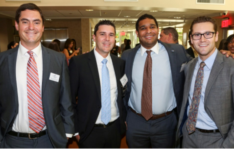 Board Director and YPOL Chair Pablo Gonzalez, Luis Gamoneda, Matt Anderson and Josh Weber