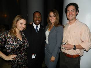 Michelle Citrin of Neox Image,  Michael Mowatt and Mercy Dorta of Miami Children�s Hospital and Pablo Gonzalez of Arellano Construction.