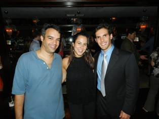 David Lancz from the Office of Senator Gwen Margolis, Nury Soler and Daniel Arbueas from the Office of U.S. Senator Marco Rubio.