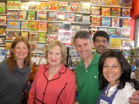 Staci Solomon, CEO Virginia Jacko, Steven Solomon, Michael Jimenez and Cathy Bartel owner of Learning Express.