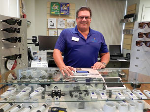 John Garcia, Licensed Dispensing Optician, Vision Solutions Center Manager.