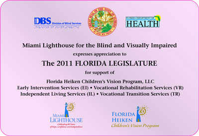 MLH expresses appreciation to the 2011 Florida Legislature