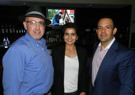 Circuit Court Judge Spencer Eig, Salina Jivani and JC Gomez.