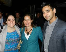 Julie Katz, YPOL Committee Member Lauren Firtel and Neil Patel.
