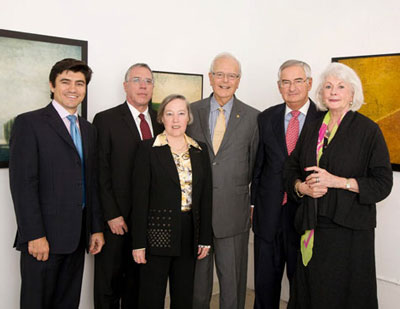 Current and past chairs of Miami Lighthouse (from left to right): Michael Silva, Ray Casas, Donna Blaustein, Owen Freed, Bill Roy, and Susan Kelley