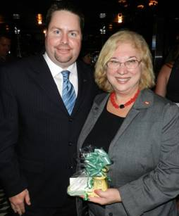 YPOL co-chair Kent Benedict and United Teacher�s of Dade President Karen Aronowitz.