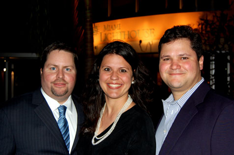 YPOL Co-Chairs Kent Benedict, Ana Maria Rodriguez and Humberto Gonzalez, Jr.