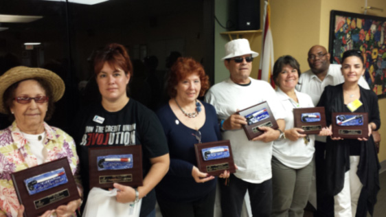 White Cane Day sponsors and speaker receive recognition plaques