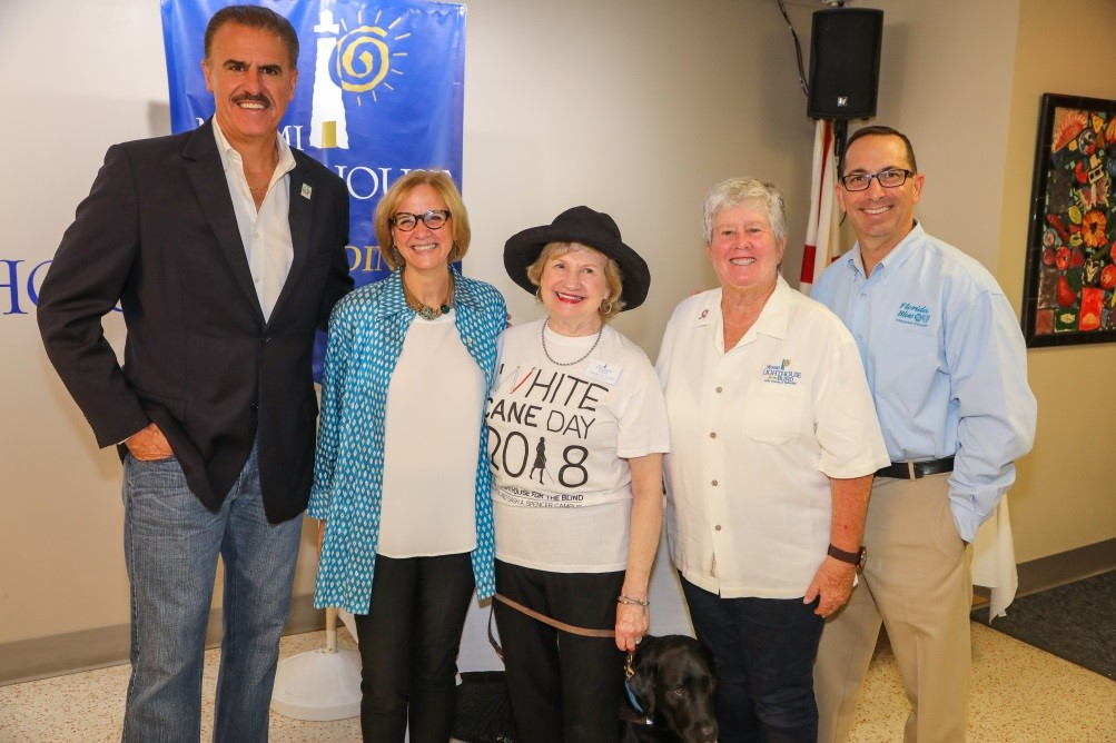 Left to right: Ron Magill, Zoo Miami, Miami-Dade Commissioner Eileen Higgins, President and CEO Virginia Jacko, Miami-Dade Commissioner Sally Heyman and Doug Bartel, Florida Blue