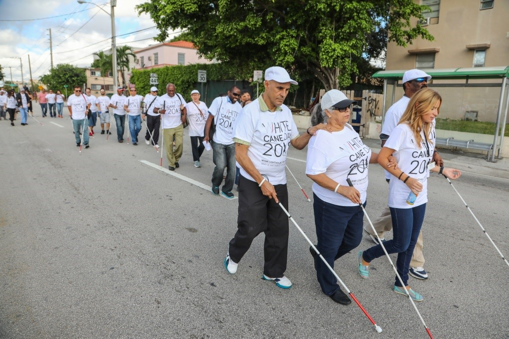 White Cane Day participants