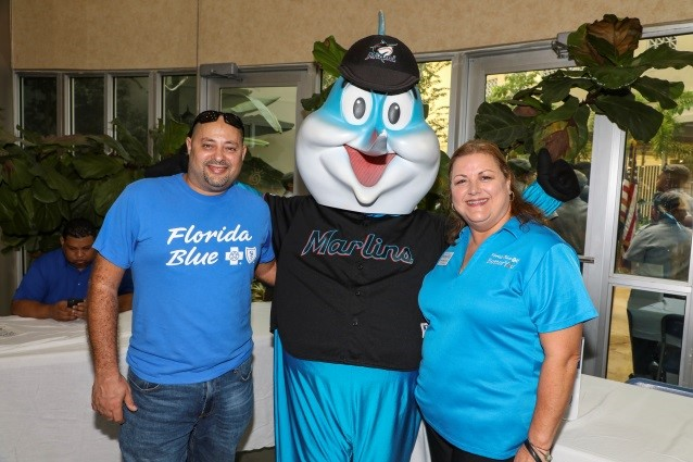 Presenting Sponsor Florida Blue and Billy the Marlin